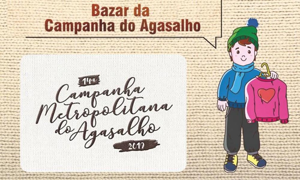 Bazar Metropolitano da Campanha do Agasalho acontece dia 26, em Santos