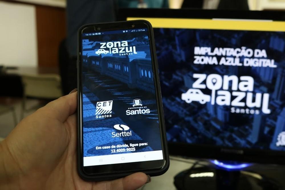 Transferência de créditos no app Zona Azul Santos deve ser feita na CET